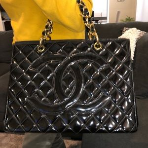 Authentic Chanel patent leather handbag